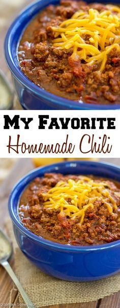 This is a great Homemade Chile for a crowd.  Just serve with saltine crackers.