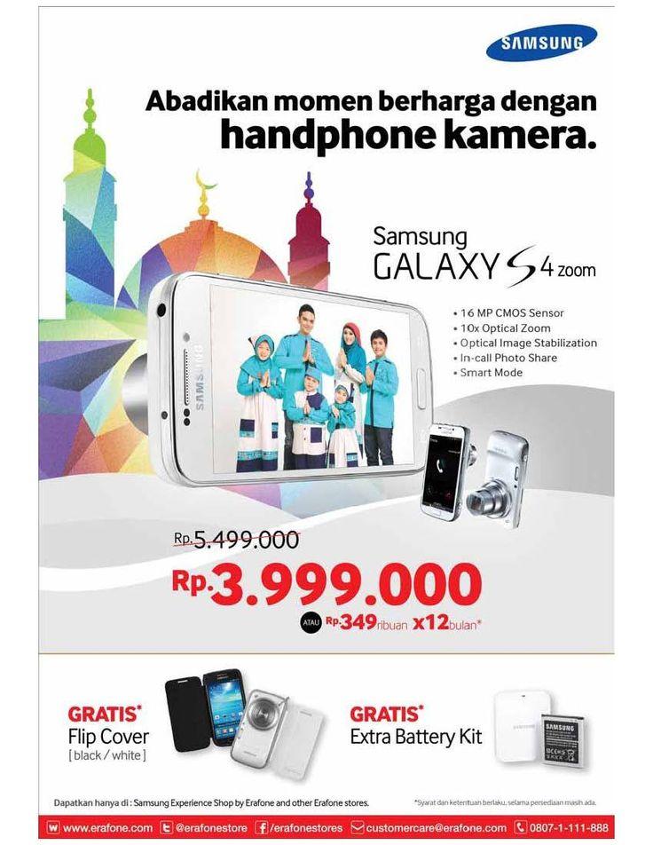 Erafone: Promo Galaxy S4 Zoom Gratis Flip Cove & Extra Battery Kit @ErafoneStore