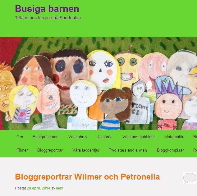 """En nyfiken, kreativ, rolig och lite busig klass från Höllviken som går i trean på en skola som heter Sandeplanskolan och som har lärare som heter Lisa och en fritidspedagog som heter Firat driver bloggen """"Busiga barnen"""" http://busigabarnen.se/ . Busiga barnens twitteflöde https://twitter.com/busigabarnen ."""