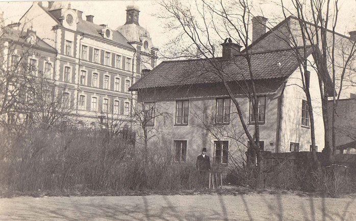 Hus i Örebro. Tidigt 1900-/sent 1800-tal?