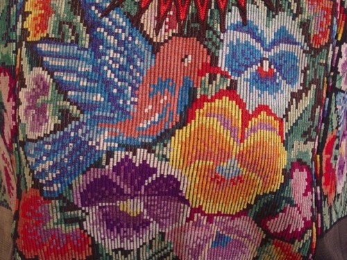 Vintage Guatemalan Chichicastenango Embroidered Bird Floral Huipil | eBay