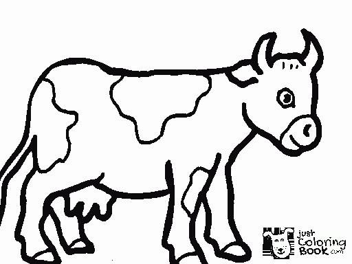 Free Printable Cow Coloring Pages For Kids Christmas Cow Within Cute Cartoon Cow Coloring Cow Coloring Pages Farm Animal Coloring Pages Animal Coloring Pages
