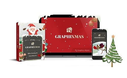 Graphixmas – what is it? Graphixmas is a stunning graphics solution with Xmas special designs too! It comes with Photoshop files (PSD) and Powerpoint files. It's jam-packed with 300+ high-quality graphic templates.