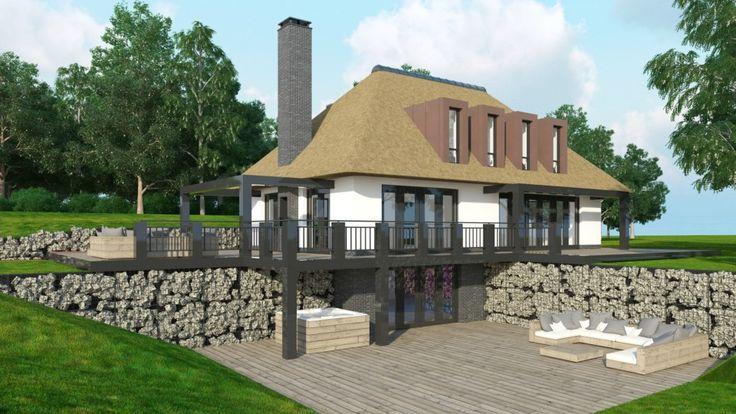 Pin van john van dijk op woonboerderij modern pinterest villa 39 s for Modern huis binnenhuisarchitectuur villas