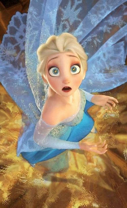 OMG!!!! Look at the detail in this picture! You can literally see the chandelier's reflection in Elsa's eyes! HOW COOL IS THAT?!?!?
