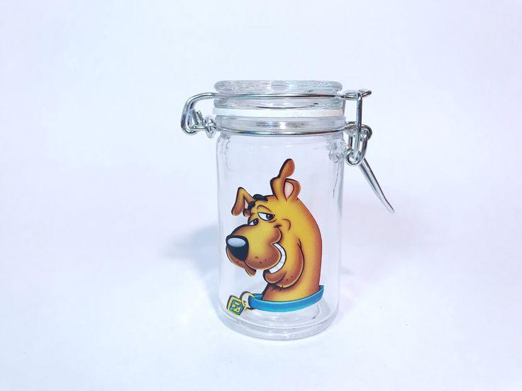 Scooby Doo glass stash jar. airtight jar. weed jars. stoner gifts. Glass stash jar. Weed stash jars. Cannabis jars. Smell proof jars. by CraftyCassondra on Etsy https://www.etsy.com/listing/539664054/scooby-doo-glass-stash-jar-airtight-jar