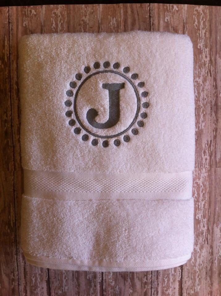 Monogramed towel!
