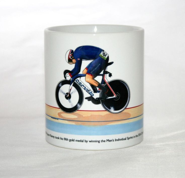Cycling Mug. Jason Kenny, Individual Sprint, 2016 Olympics