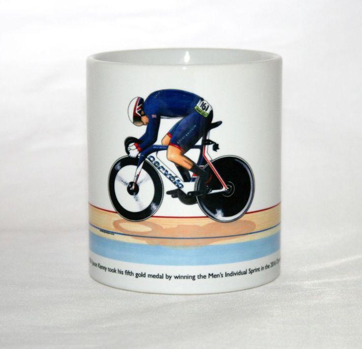 Cycling Mug. Jason Kenny, Individual Sprint, 2016 Olympics