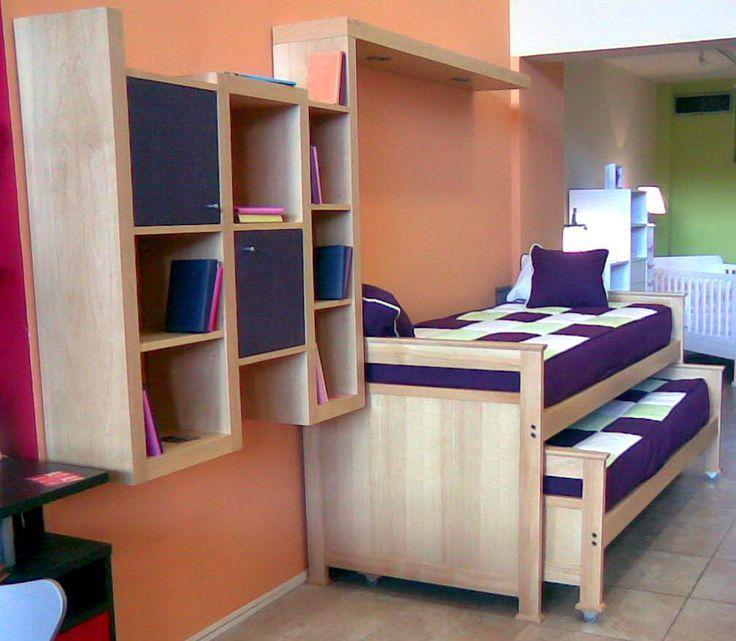 Las 25 mejores ideas sobre cama alta en pinterest estanter as altas paredes de la habitaci n - Cama nido alta ...