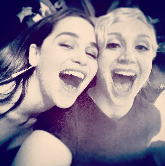 "Daenerys and Brienne in one room… now THAT'S one fantastic pairing. | Community Post: 32 Times The ""Game Of Thrones"" Cast Melted Our Damn Hearts"