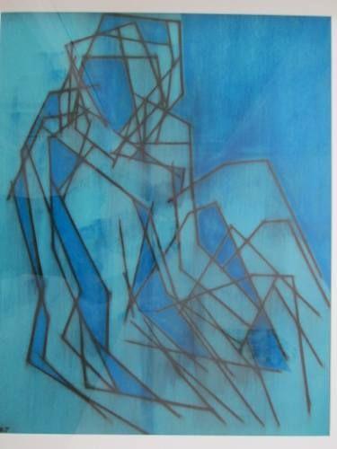 "Saatchi Art Artist Kevin Jones; Drawing, ""Seated Model ( multiple-image ) No.5"" #art"