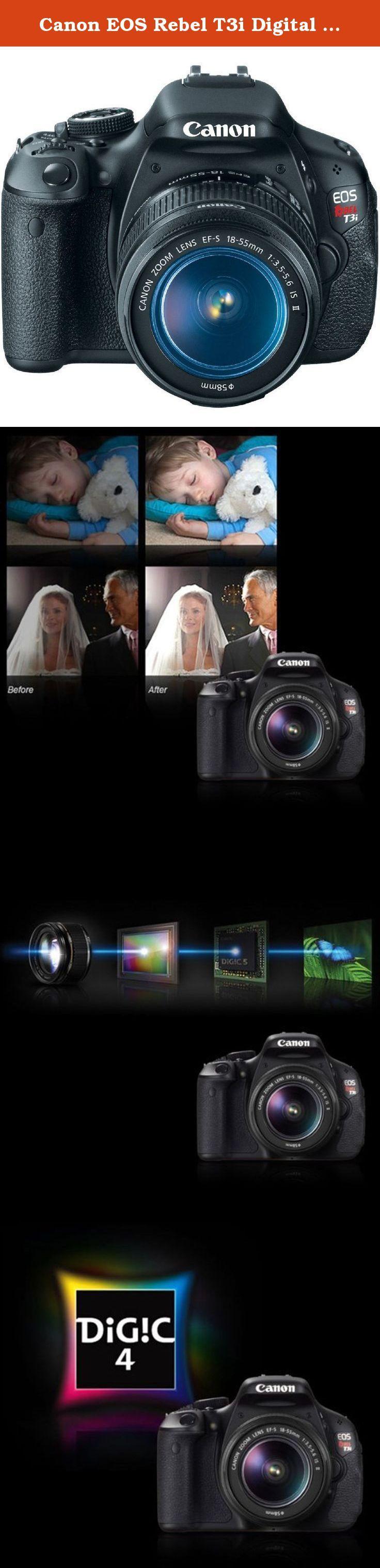 Canon EOS Rebel T3i Digital SLR Camera with EF-S 18-55mm f/3.5-5.6 ...