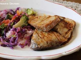 Atum grelhado com legumes e emulsão de soja e gengibre, Receita Petitchef