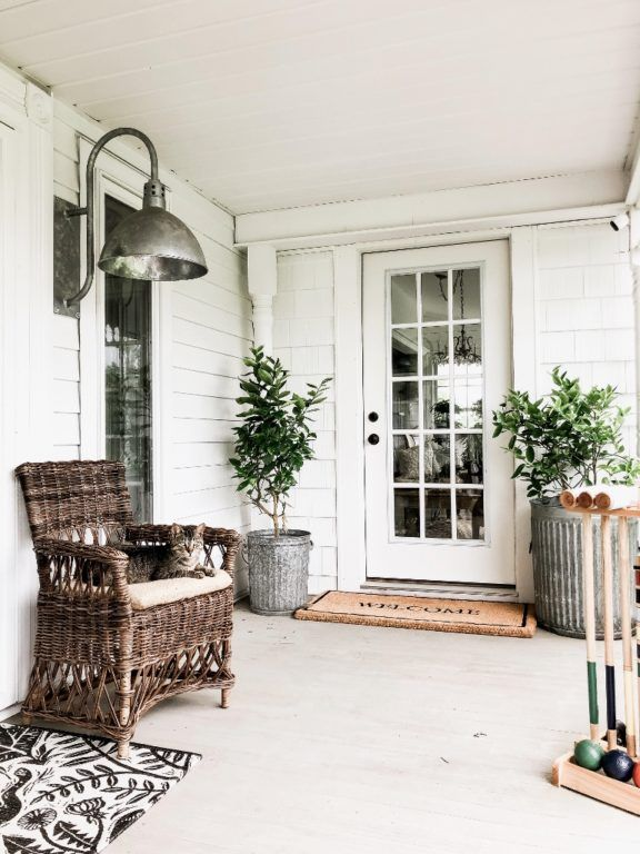 Porch Lighting For Vintage Farmhouse Inspiration Front Porch Decorating Porch Decorating Barn Lighting