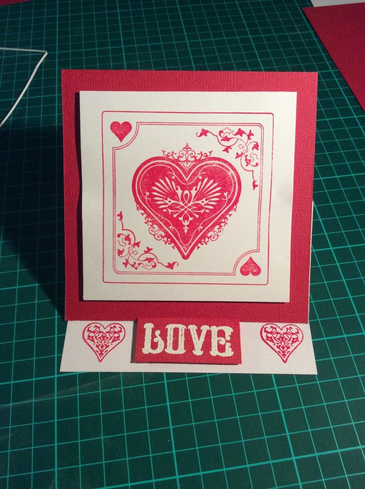 Valentines Day card using EK Success Sweethearts stamps