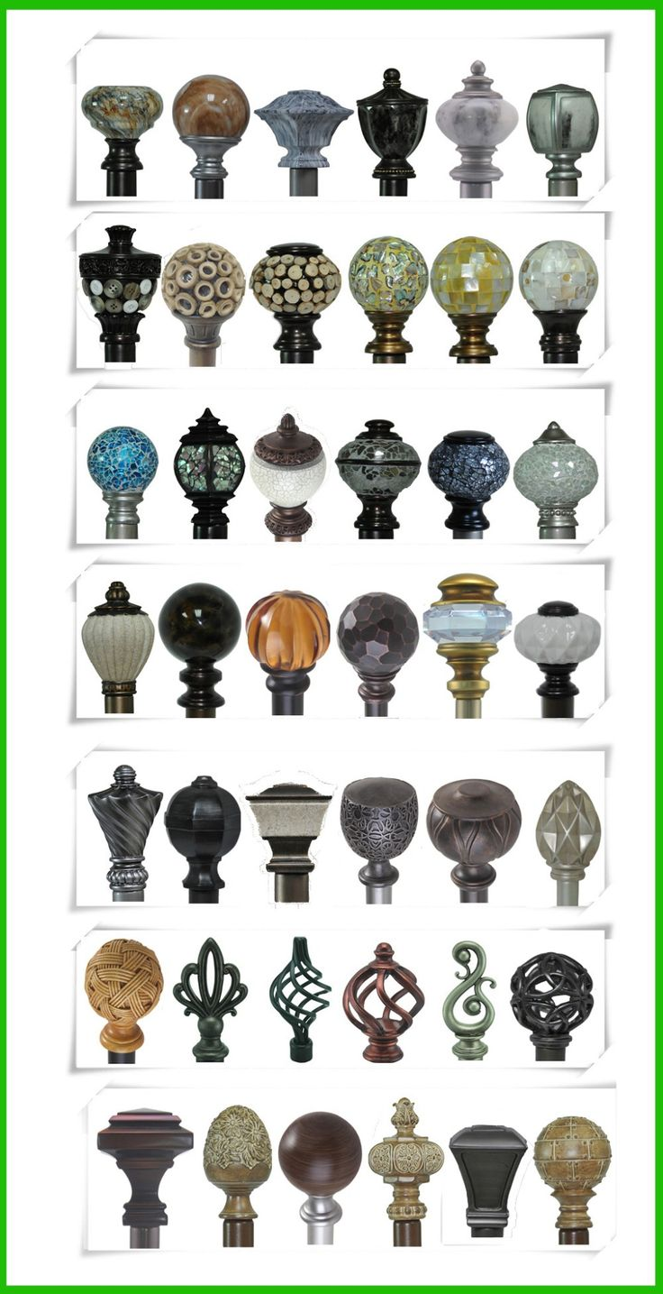 Wrought iron curtain rods designs - Classic Elegant Design Curtain Finial Curtain Rod