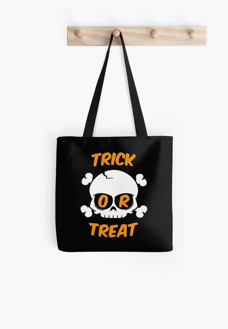Trick-or-Treat skull treat bag for your halloween hunts.