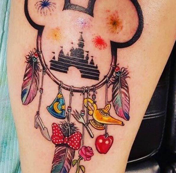 Dreamcatcher Tattoos Disney And Body Art On Pinterest