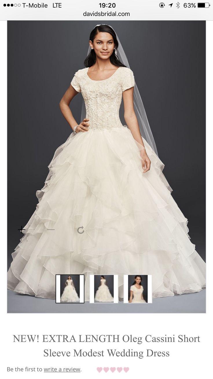 Pee Wedding Davids Bridal Ses Ball Gowns Short Sleeves Ideas Dress Shorts Weddings