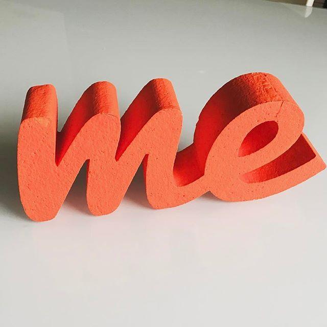 #Me #γράμματα από φελιζόλ πάχους 5εκ.- 28εκ. μήκος x 12 εκ. ύψος #3d #felizol #athens #orange #calligraphy