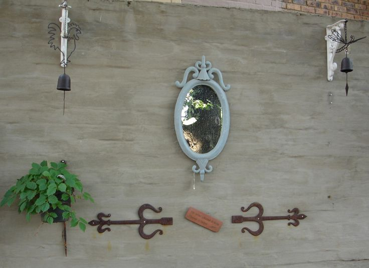 Dummy hinges, mirrors, wall lanterns