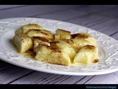 Kolorowa Kuchnia Magdy: Kopytka z białym serem na słodko