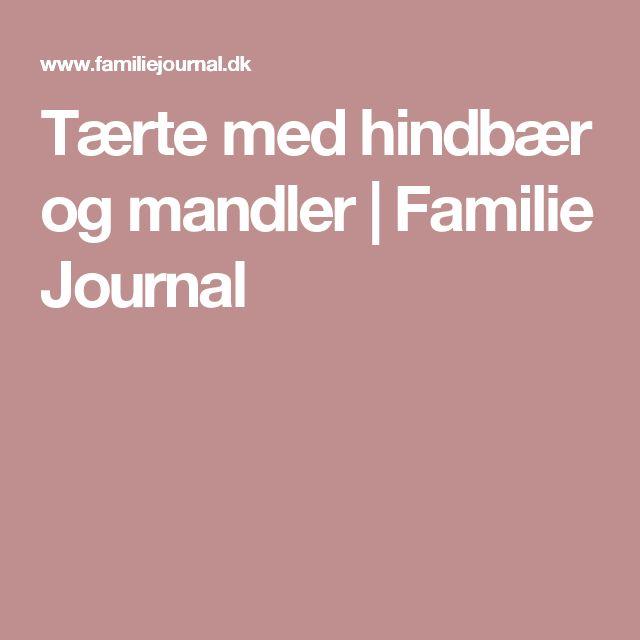 Tærte med hindbær og mandler   Familie Journal