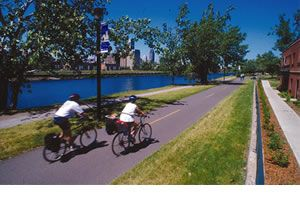 La Route Verte - bicycle routes in Montreal