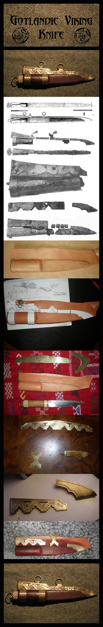 This is a small non text descriptive tutorial to making a viking knife sheath. I based the sheath on the vendel knife and on several different gotlandic knives. Sorry for the bad quality of some of...
