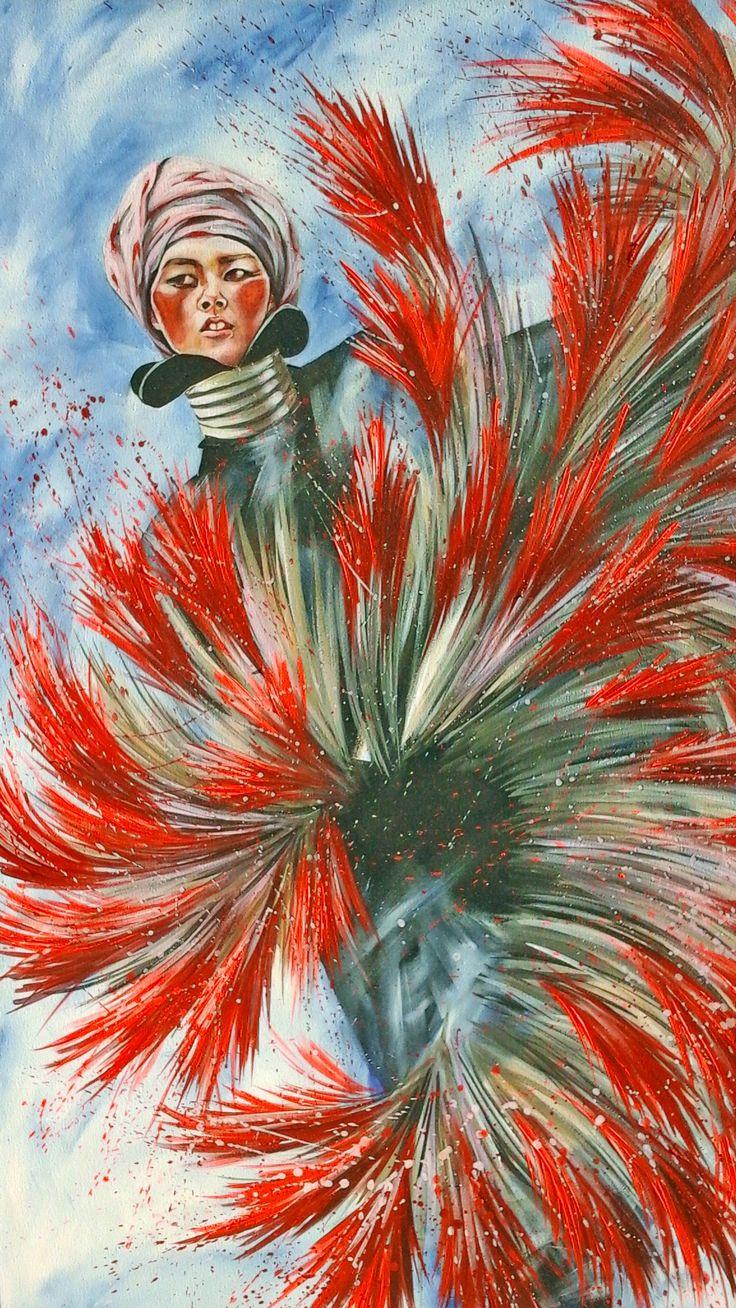 femme danseuse  projetés coulures Collet Delphine