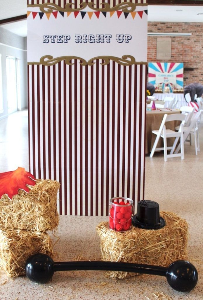 Step Right Up Photo Booth from a Big Top Circus Themed Birthday Party on Kara's Party Ideas | KarasPartyIdeas.com (14)
