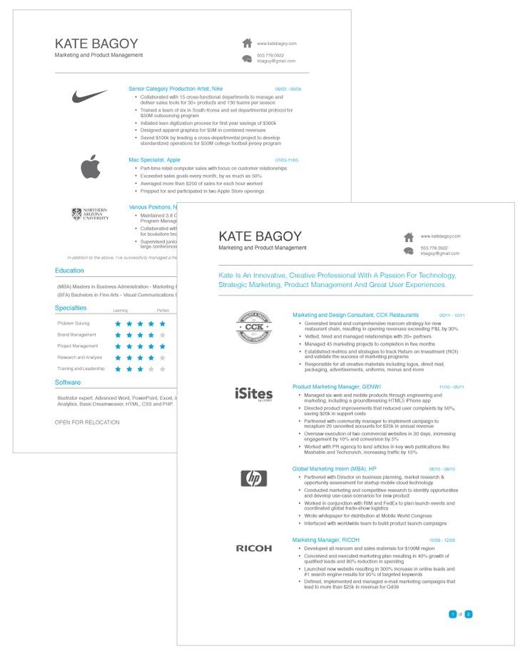 24 best Resume Inspiration images on Pinterest Design resume - what is the best resume resume