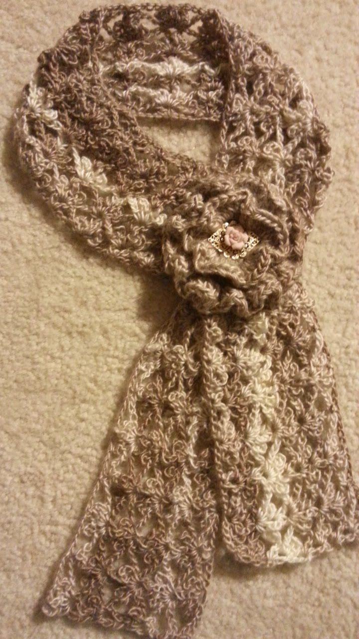 #Crochet Trefoil Lace Stitch Scarf #TUTORIAL how to crochet a scarf DIY ...