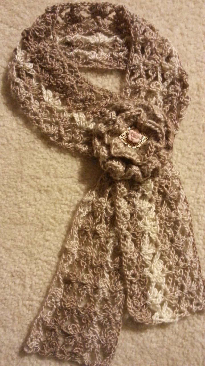 #Crochet Trefoil Lace Stitch Scarf #TUTORIAL how to crochet a scarf DIY ...
