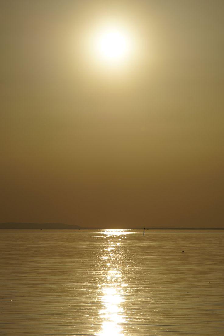 goldene Abendstimmung am Bodensee