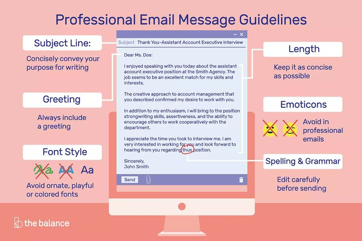 How to write and send professional email messages email