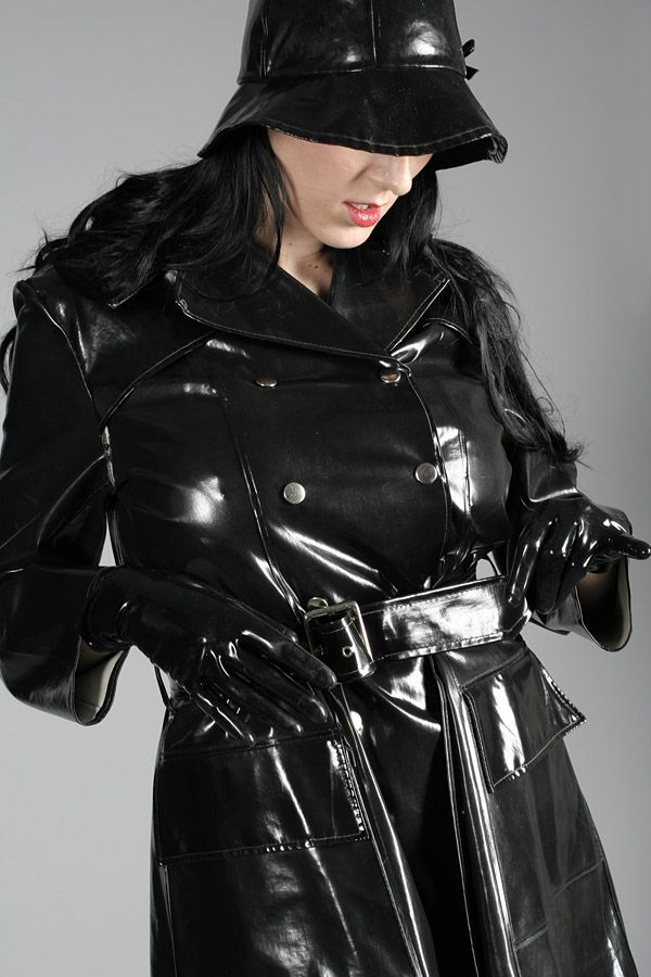 Black Shiny Trench Coat by lustlovelatex.deviantart.com on @deviantART