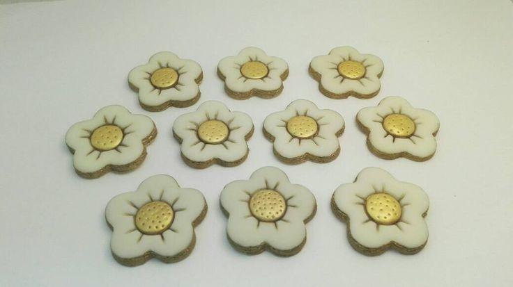 Margherite in pasta di mais dipinte a mano 10 fiori di Amacreazioni su Etsy