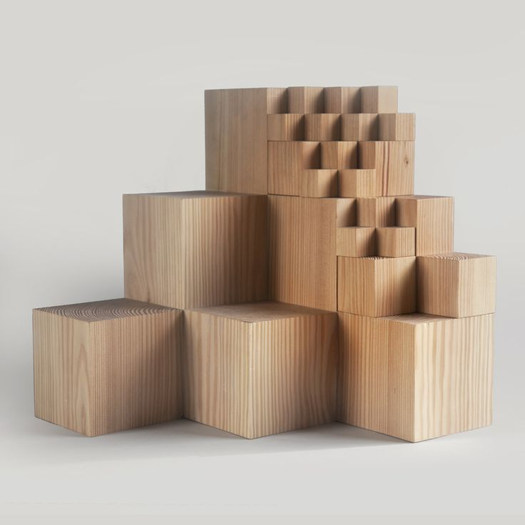 A Few of My Favourite Small Things Wooden Cubes by The Fundamental Group on Haystakt.com