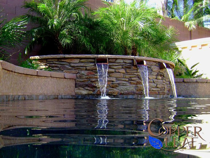 35 best images about pool water features on pinterest - Swimming pool water feature ideas ...