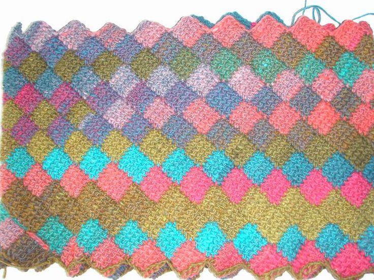 83 best tunisian entrelac crochet images on Pinterest | Tunisian ...