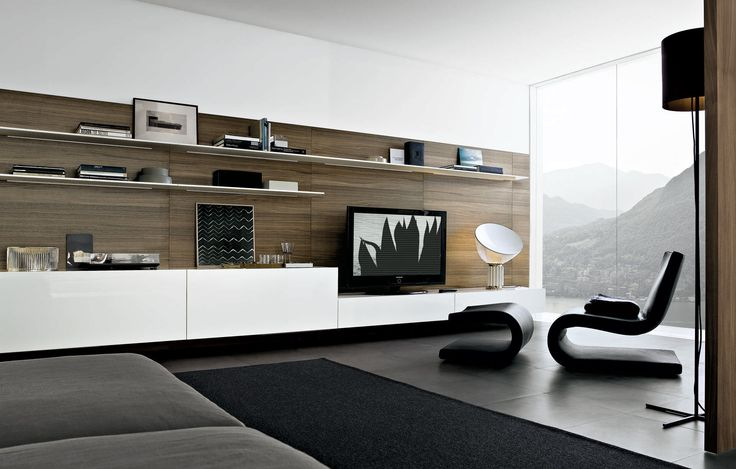 Creative Modern TV Stand Ideas 2014 : Modern Living Room Interior Design Tips Tv Wall Unit 04
