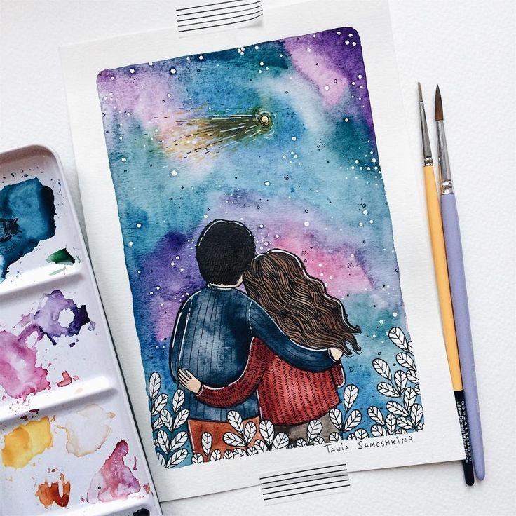 """5,201 Likes, 34 Comments - Tania Samoshkina (@tania_samoshkina_art) on Instagram: """"• made with love • ❤️ #samoshkina_art #illustration #illustrations #dailyart #art #artist…"""""""