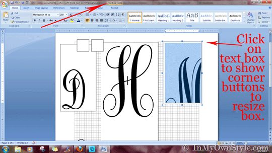 How To Create a Monogram Using MS Word