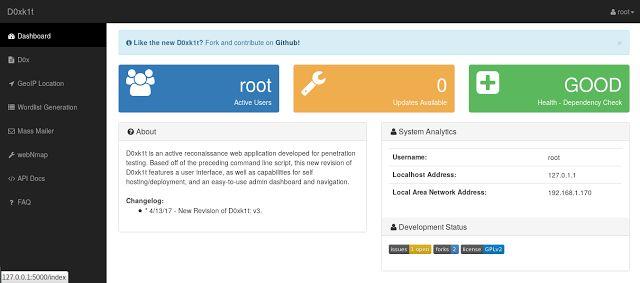 D0xk1t: OSINT & Active Reconnaissance Suite  infosechackingethical hacking