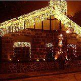 #Casaecucina #5: Angelbubbles 8 Modi LED Tenda Catena Stringa Fila Luminosa di Luci File Catene Luminose per Illuminazioni esterni di Natale Matrimonio Feste Ristorante Hotel (Bianco caldo 10M*0.65M)
