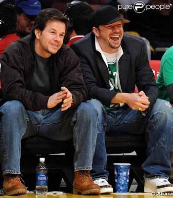 Mark and Donnie Wahlberg .. If I had one last wish ... hehehe