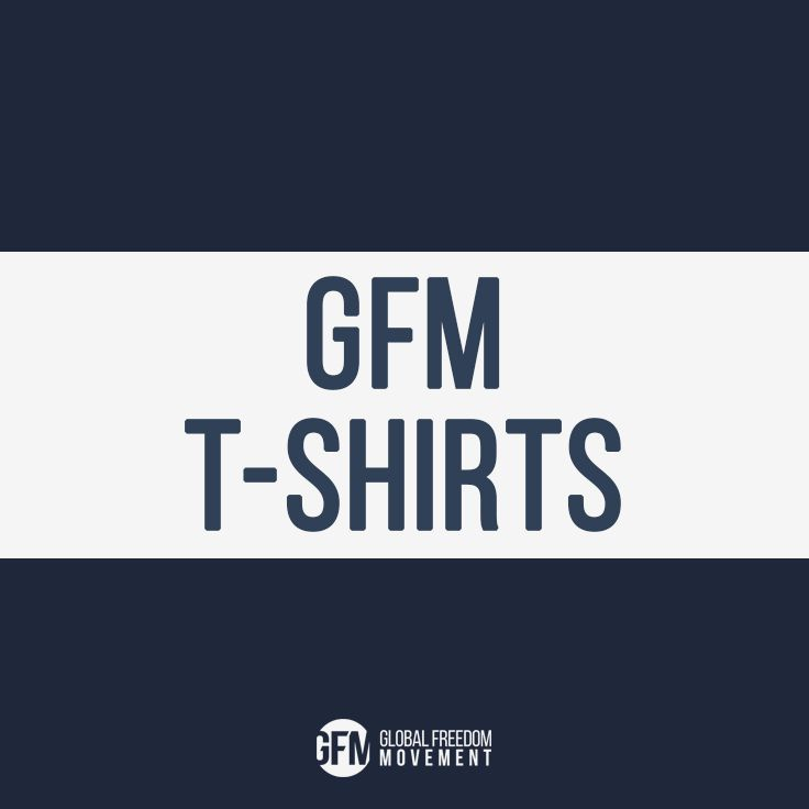 "Global Freedom Movement t-shirts let you wear your heart on your sleeve, offering an irreverent way of visually ""voicing"" your opinion to all you encounter - whether they asked for it or not! Not for the weak-spined or humourless."