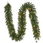 9 ft. Pre-Lit LED Sierra Nevada Garland with Warm White Lights